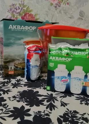 Фильтр для воды Аквафор ЛАКИ + 4 Картриджа ( 1 - АКВАФОР В5 и 3 -