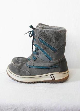Зимние замшевые спортивные ботинки полусапожки на шнуровке