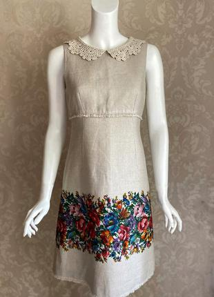 Dolce and gabbana оригинал италия дизайнерское льняное платье