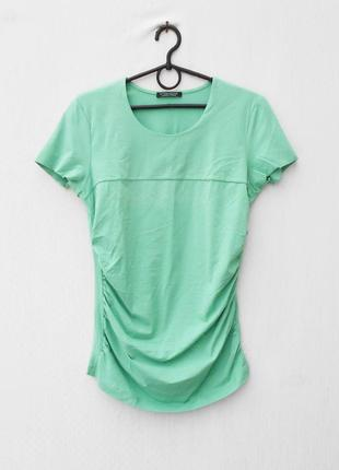 Трикотажная хлопковая футболка для беременных