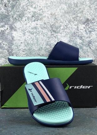 Оригинал шлепанцы rider pool fem blue/green