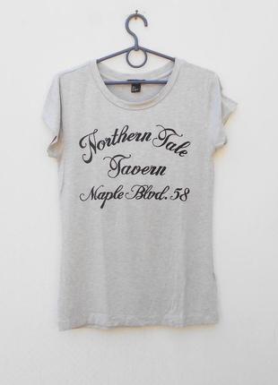 Трикотажная  футболка с надписью из вискозы