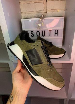 Кроссовки south army green код 9973