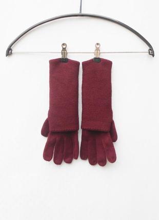 Вязаные зимние осенние перчатки