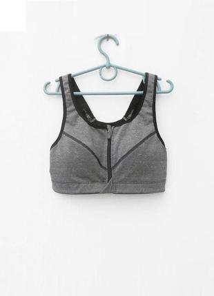 Спортивный топ на молнии женская спортивная одежда