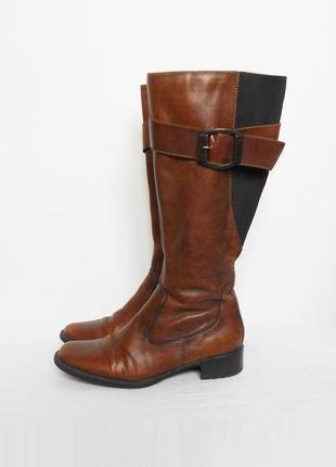 Осенние высокие демисезонные кожаные сапоги clarks