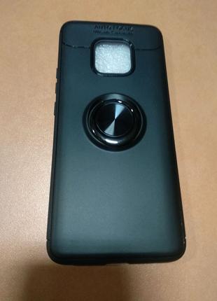 Чехол Auto Focus с кольцом для Huawei Mate 20 pro. Чорний