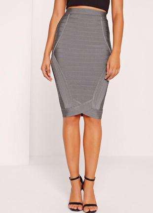Бандажная юбка missguided,  размер 10