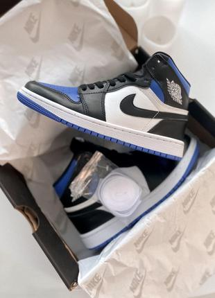 Кроссовки Nike Air Jordan 1 Retro High Black Blue White