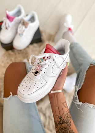 Кроссовки Nike Air Force 1 LX White Lace Red