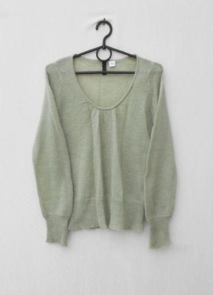 25% мохеровый осенний свитер джемпер с длинным рукавом