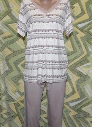 Турция домашний костюм пижама вискоза бриджи + футболка