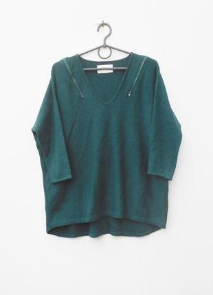 Осенний зимний свитер оверсайз с шерстью и кашемиром с рукавом...