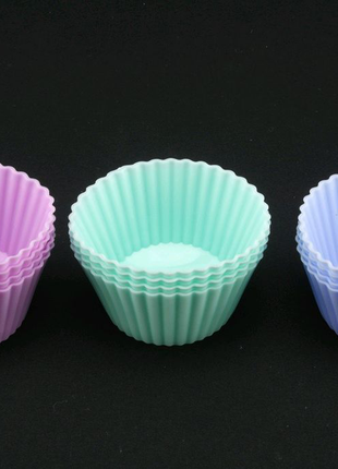 Набор форм для выпечки кексов силикон. 12 шт.
