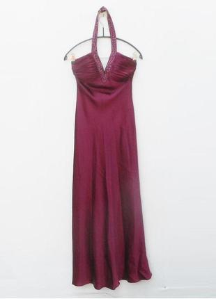 Шикарное вечернее нарядное платье в пол с открытой спиной
