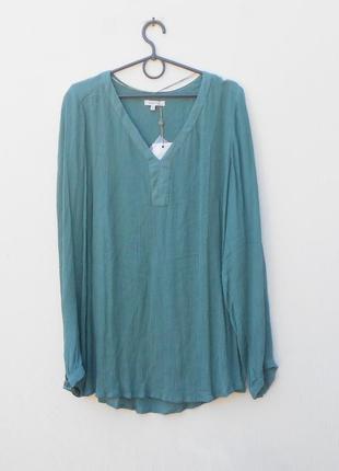 Летняя свободная блузка с длинным рукавом из вискозы
