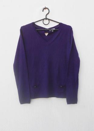 Осенний весенний свитер 37% шерстяной с длинным рукавом 🌿