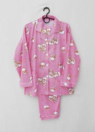 Новая хлопковая теплая пижама для сна и дома