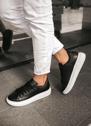 Кроссовки Alexander McQueen Black White