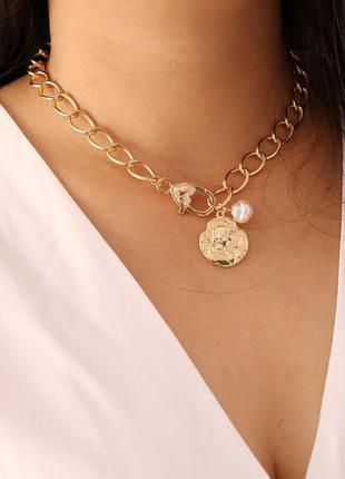 Шикарный чокер колье ожерелье многослойная цепь🌺❤️😍