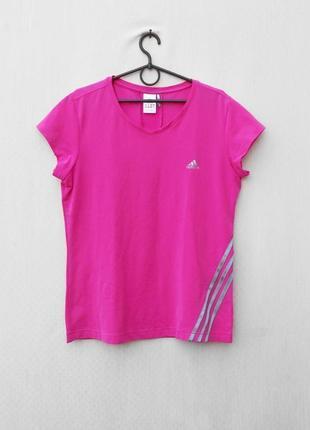 Розовая спортивная футболка аdidas