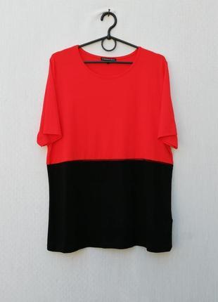 Трикотажная блузка с коротким рукавом из вискозы