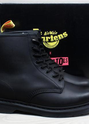 Мужские кожаные ботинки dr. martens 1460 sex pistols, размер 47