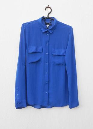Летняя шифоновая блузка с воротником с длинным рукавом 🌿