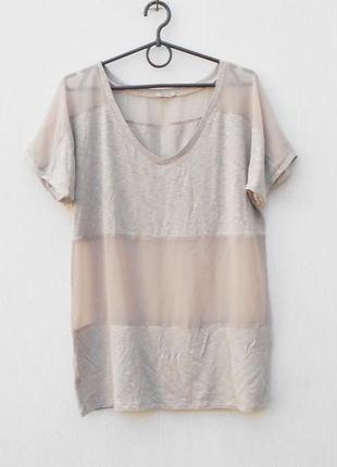 Бежевая летняя блузка из вискозы intimissimi
