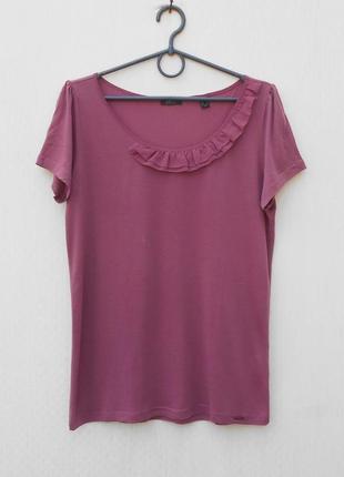 Летняя трикотажная блузка с коротким рукавом
