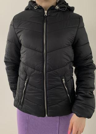 Чорна куртка, дута, нова трендова куртка.