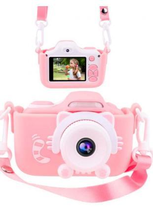 Цифровой детский фотоаппарат XoKo KVR-001 Розовый, Синий Чехол