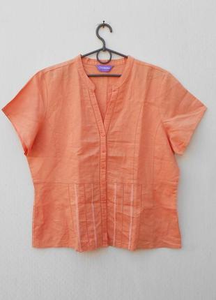 Летняя натуральная блузка с коротким рукавом