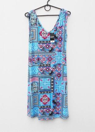 Свободное летнее трикотажное платье из вискозы