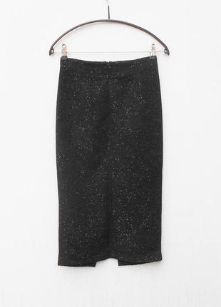 Нарядная фактурная черная классическая облегающая макси юбка к...