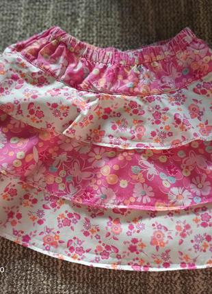 Розовая юбочка на рост 86-92