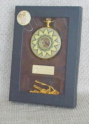 №521 Часы карманные механические в футляре с цепочкой Германия