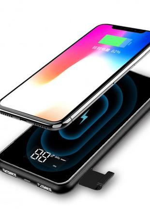 Baseus Full Screen Bracket Wireless Charger Power Bank 8000mAh