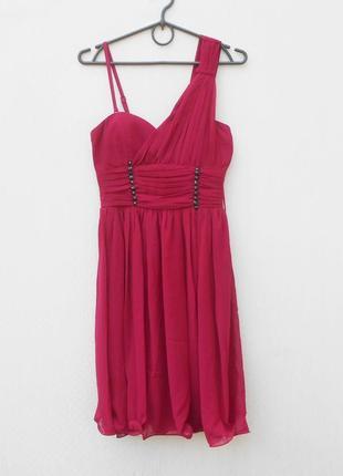 Летнее нарядное шифоновое вечернее платье