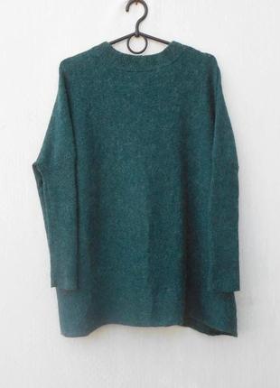Осенний весенний удлиненный свитер оверсайз с длинным рукавом ...