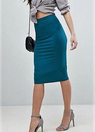 Облегающая  стрейчевая юбка карандаш высокая талия  asos