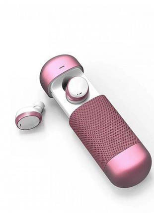 Беспроводные стерео наушники TWS 206 Bluetooth + бокс Розовые