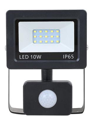 Прожектор светодиодный с датчиком движения 10 Вт NEOMAX Slim LED