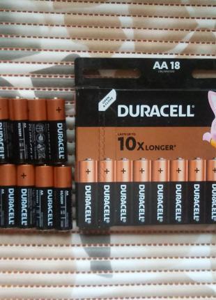 Батарейка Duracell AA LR6 MN1500 Basic alkaline 1,5V блистер 18шт