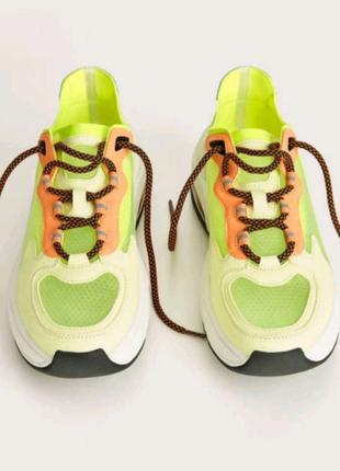 Кроссовки, кроссовки неон, кроссовки сетка, кроссовки прозрачные,