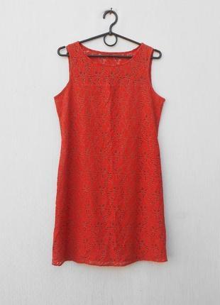 Летнее кружевное нарядное платье без рукавов 🌿
