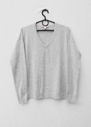 Серый весенний свитер джемпер с длинным рукавом 🌿