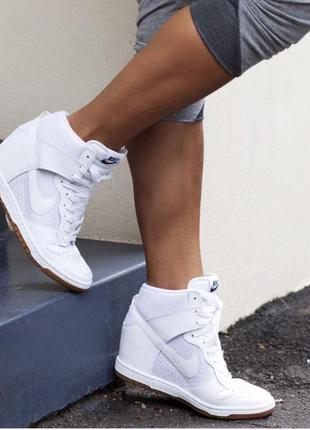 Белые,кожаные сникеры(кеды)кроссовки,ботинки,nike оригинал,вер...