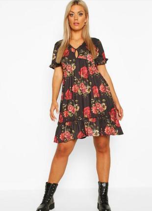 Распродажа!!! платье в цветочном принте