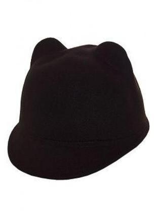 Фетровая шерстяная шляпа жокейка с ушками